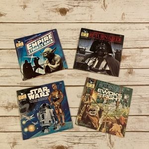 Star Wars Vintage Original Book and Record Books